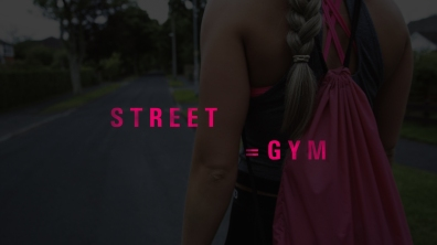 Fitness Girl Street equals gym graphic