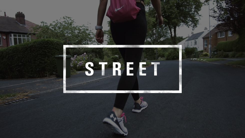 Fitness Girl street word graphic
