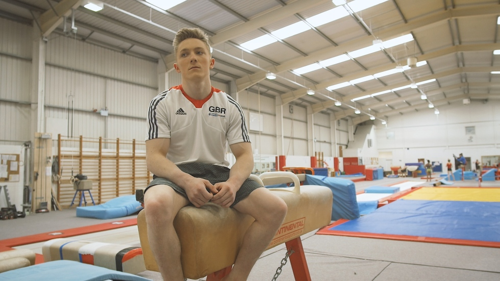 GB Gymnast Nile Wilson Hyperflex Jeans Replay Training