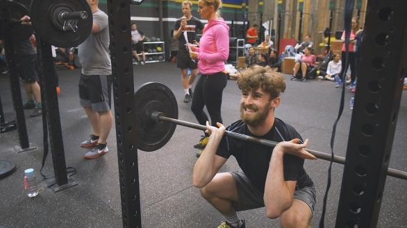 Front Squats Crossfit Workout Gym Leeds Videographer
