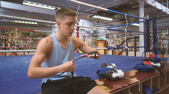 Pro GB Boxer Sparring and Training Jack Bateson